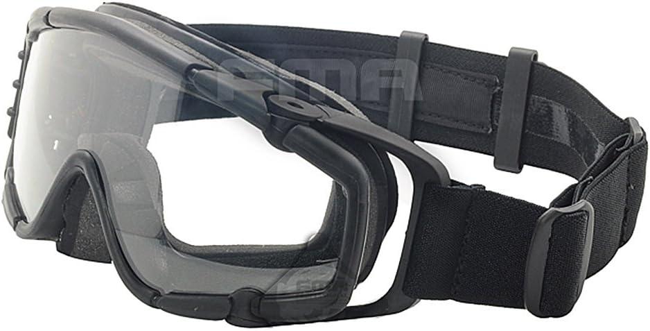 Ventilador Enfriador de versión gafas si-ballistic gafas de protección para bicicleta Ciclismo conduciendo táctico Paintball Airsoft Snowboard Esquí 3colores (negro, de, rosa), negro