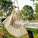 CCTRO Hanging Rope Hammock Chair Swing