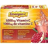 Emergen-C Cranberry-Pomegranate (30 Count), 1000mg Vitamin C/Electrolytes / B Vitamins