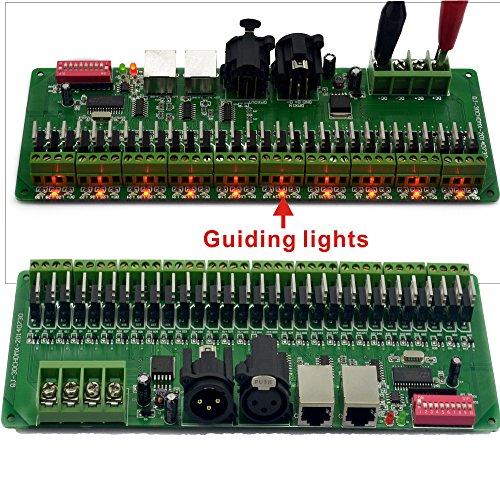30 channel DMX Decoder 60A Dimmer PWM Driver DMX 512 RGB Strip Controller With RJ45 And XLR Plug Input DC9V-24V (30CH DMX Decoder PCBA)