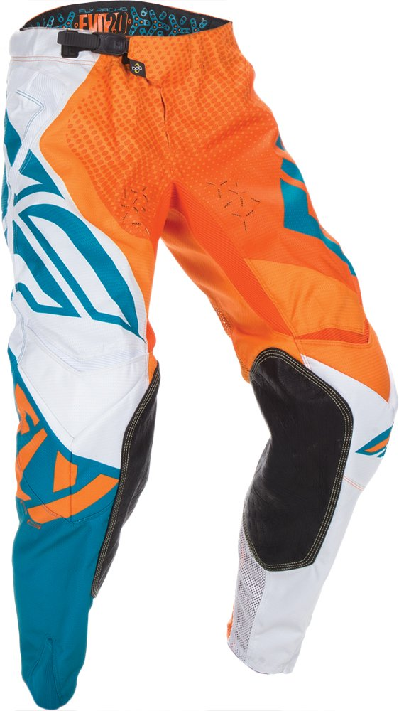 Fly Racing Unisex-Adult Evolution 2.0 Pants (Orange/Dark Teal, Size 36)