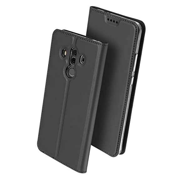 fb1a672798 Huawei Mate 10 Pro Case, HXAYR Shockproof Slim Fit Luxury Skin Leather  Wallet Case with Card Holder Slot [Kickstand] Flip Cover Full Body  Protective ...