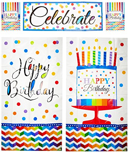 amscan Wall Decorating Kit | Multi Color Collection | Birthday