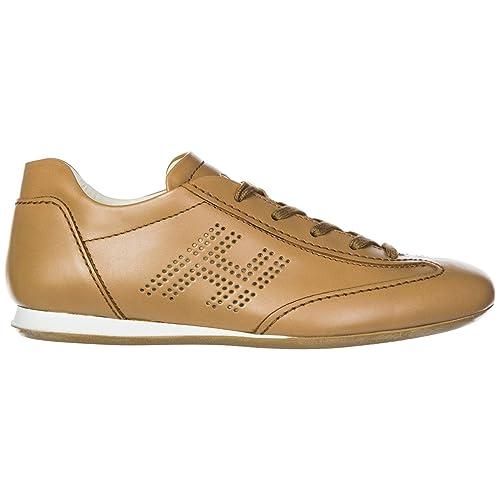 Hogan Scarpe Sneakers Donna in Pelle Nuove Olympia h bucata Marrone EU 36  HXW05200041D0W9990  Amazon.it  Scarpe e borse 7c3c09dc41d