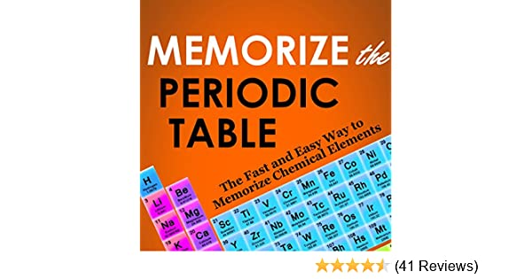 Amazon Memorize The Periodic Table The Fast And Easy Way To