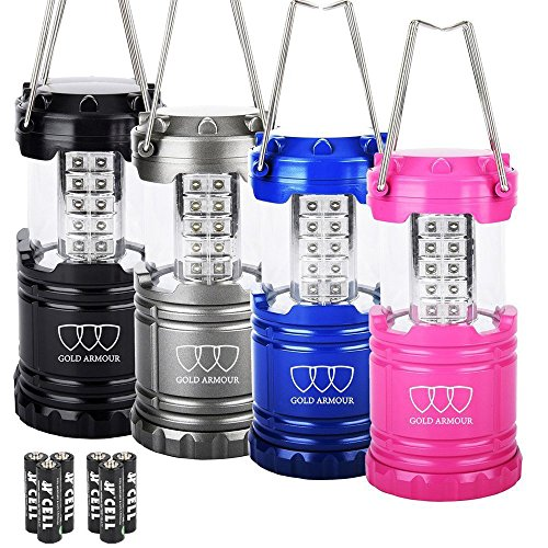 Gold Armour 4Pack LED Camping Lantern
