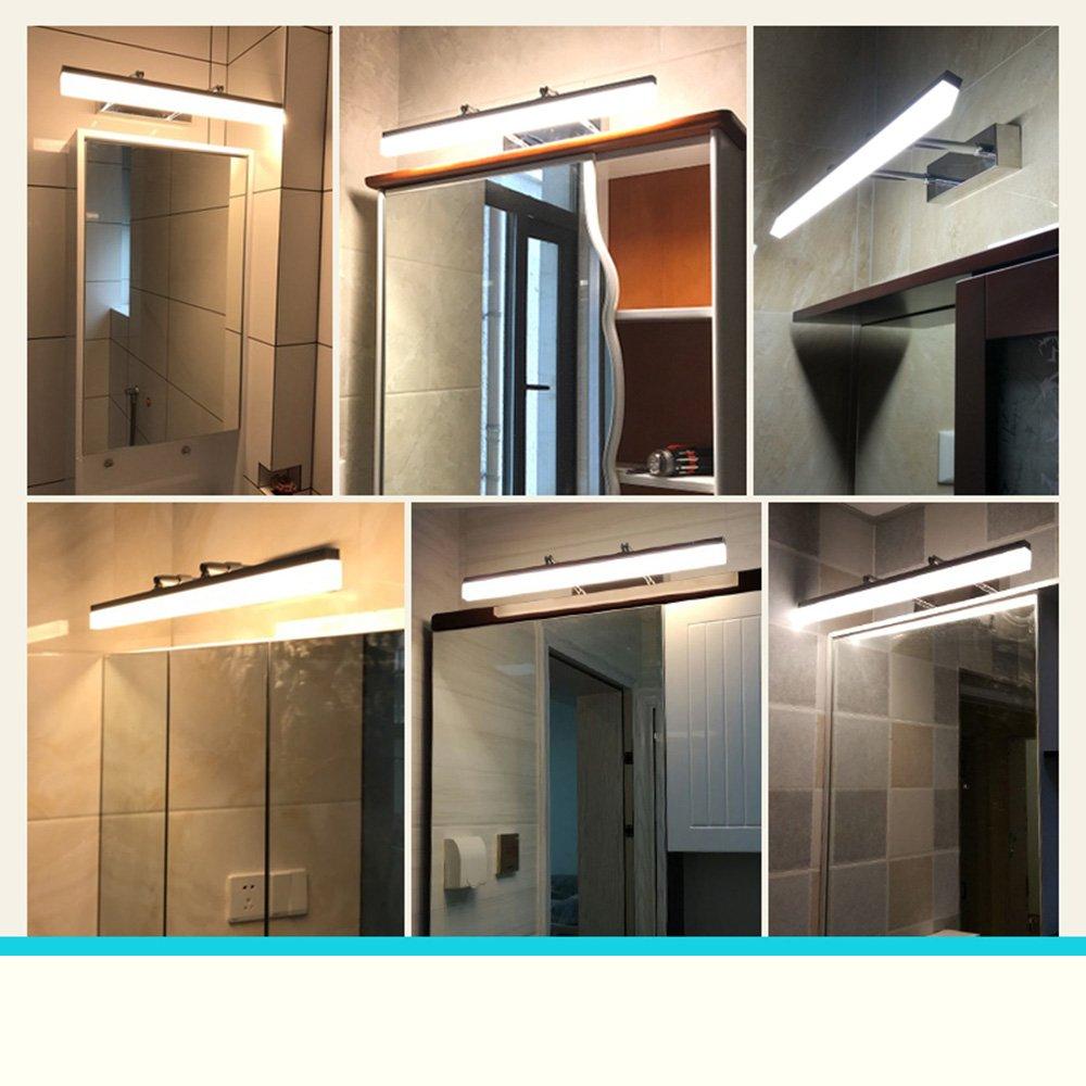 Spiegelfrontlicht Wandleuchten Spiegel Vorne Lampen Bad Edelstahl LED LED LED Chip Warm Licht Weiß Licht Niemals rosten (Farbe   weißes Licht-Chrome-60cm-14W) 5e3459