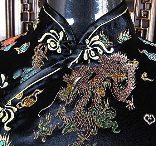 7Fairy Women's Vtg Black Mini Chinese Evening Prom Dress Cheongsam Size 18 US by 7Fairy (Image #3)
