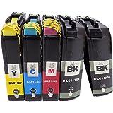 LC113(BK×2/C/M/Y)-5本セット [Brother]ブラザー 新互換インクカートリッジ残量表示付き (最新型ICチップ付き) 【A.I.S製品】