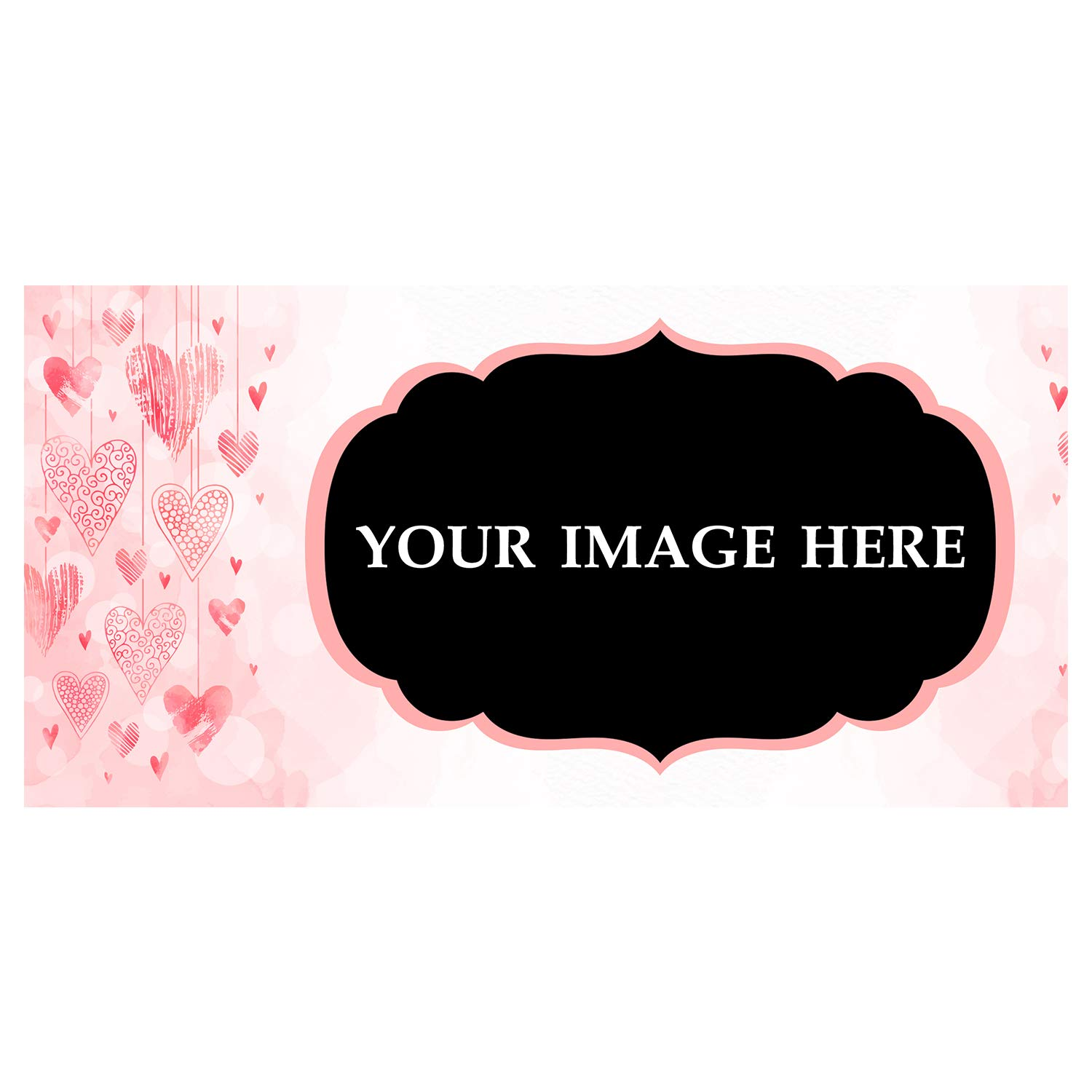 BANNER BUZZ MAKE IT VISIBLE Custom Magnetic Picture Pocket Frame, Self-Adhesive Pocket Photo Magnets for Refrigerator, Valentine Day Gifts & More (12'' X 24'')