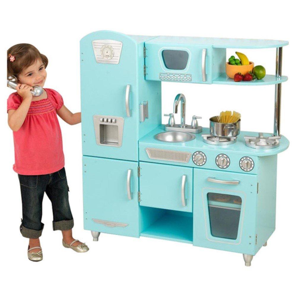 Amazon.com: KidKraft Vintage Kitchen, Play Kitchen Set, Blue: Toys ...