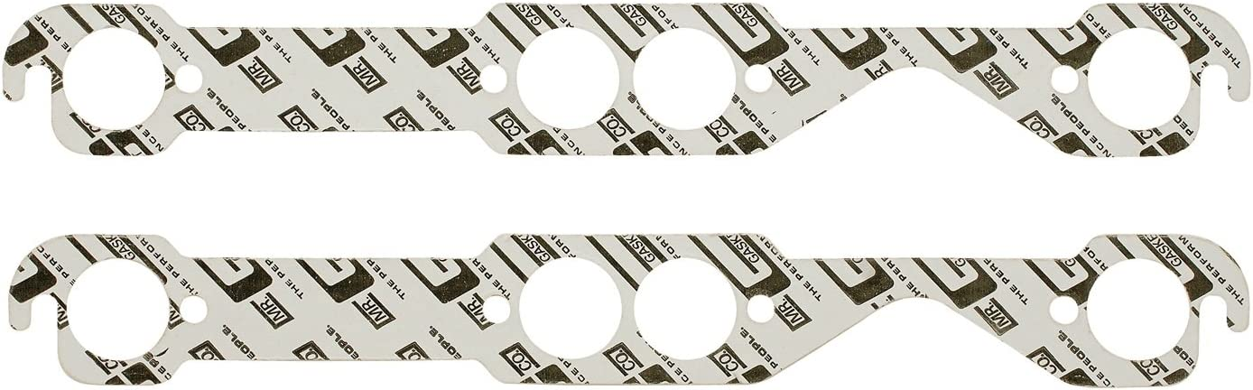 Mr Gasket 150B High Performance Round Port Exhaust Gasket-Two Per Set