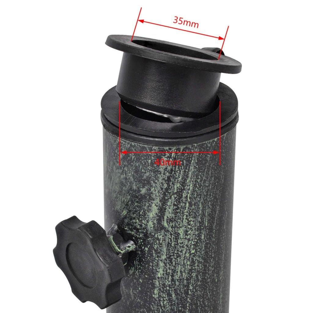 vidaXL Base Porta Ombrellone in Ghisa 12 kg con Adattatore Supporto Parasole