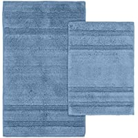Garland Rug 2-Piece Majesty Cotton Washable Rug Set, Sky Blue