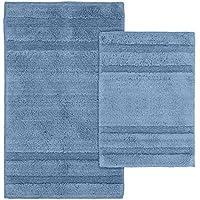 Garland Rug 2-Piece Majesty Cotton Washable Rug Set, Sky Blue