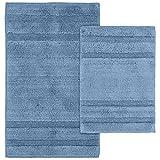 Kohls Bathroom Sets Garland Rug 2-Piece Majesty Cotton Washable Rug Set, Sky Blue