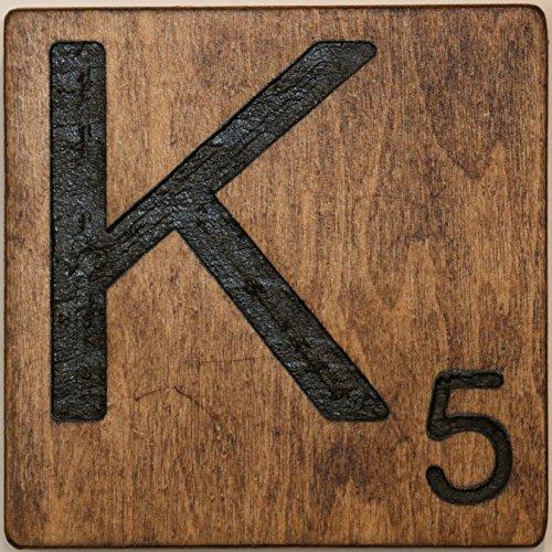 - Large Scrabble Letter Tile (8 x 8 Medium, K)