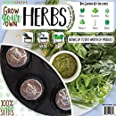 Grow Your Own Herbs Garden Seedsheet - AS SEEN ON SHARK TANK- Fast-Growing Organic NonGMO Recipe Garden Kit