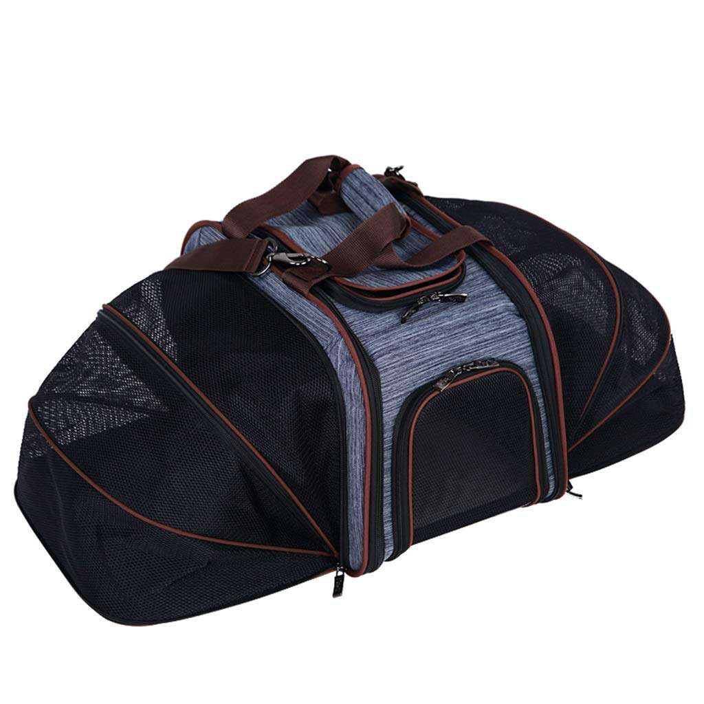 Dog Carrier Pet Travel Bag Triple Space Can Be Outcrop Concealed Good Out Of The Portable Air Box 17.1x10.4x11.4 Inches