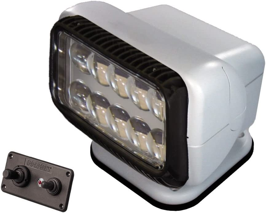 GoLight LED Permanent Mount t Searchlight with Dash Mounted Remote, White : Boating Spotlights : Sports & Outdoors