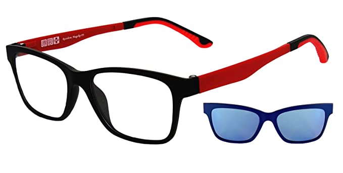 rainbow safety MagClip Montura de Gafas con Clip de Sol Polarizado Magnético RMCG