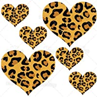 Leopard Print Hearts Reusable Wall Decals - 2 & 4 inch