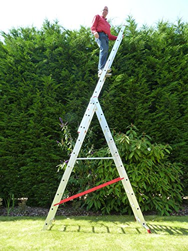 10 Rung Combi All-In-One Extension Ladder, Step Ladder & ...