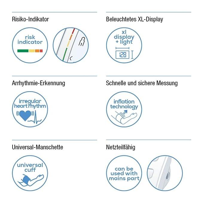 Beurer BM57 - Tensiometro de brazo con bluetooth, color blanco: Amazon.es: Salud y cuidado personal