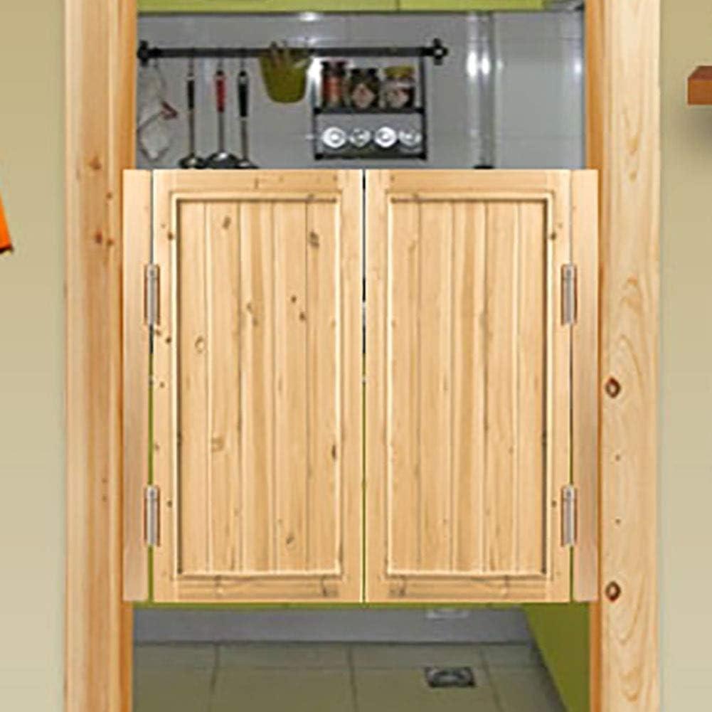 GuoWei Madera Puerta de Vaivén Inconcluso Café Salón Jardín Entrada Utilizar Bisagra Incluido Rústico, Personalizable (Size : 90cmx80cm)