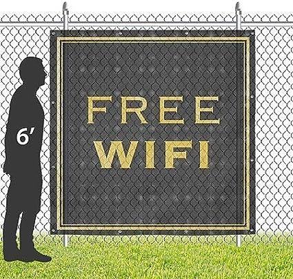 Stripes Blue Wind-Resistant Outdoor Mesh Vinyl Banner CGSignLab 8x8 Free WiFi