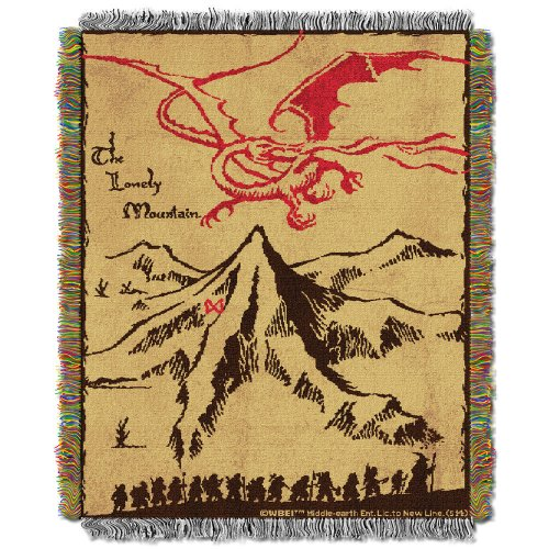 The Hobbit: An Unexpected Journey Lonely Mountain Woven Tapestry Throw Blanket – LOTR