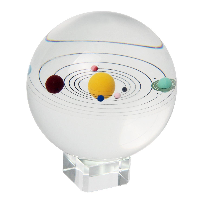 Signstek 3D Sonnensystem Glaskugel Kristallkugel Kristallglas Kugel mit Ständer (Kristall Ständer) B01E97Z22U | Verbraucher zuerst