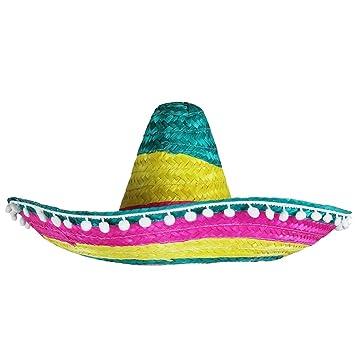 6 X MEXICAN STRAW SOMBRERO HATS IDEAL FANCY DRESS  Amazon.co.uk ... 26a19b2b1e9