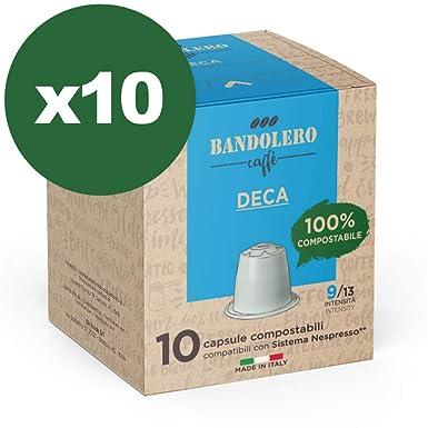 BANDOLERO 100% Compostable Made in Italy, 100 Cápsulas Compatibles ...