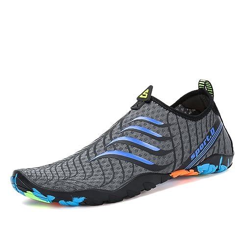 Voovix Calcetines de Agua Transpirable Aqua Unisex Zapatos de Agua Descalza de Secado Rápido Zapatillas Livianas