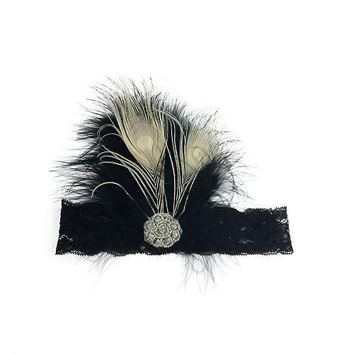 Jelinda sombrero tocado pluma de color eligible diseño especial en forma de cinta para novias acceso...