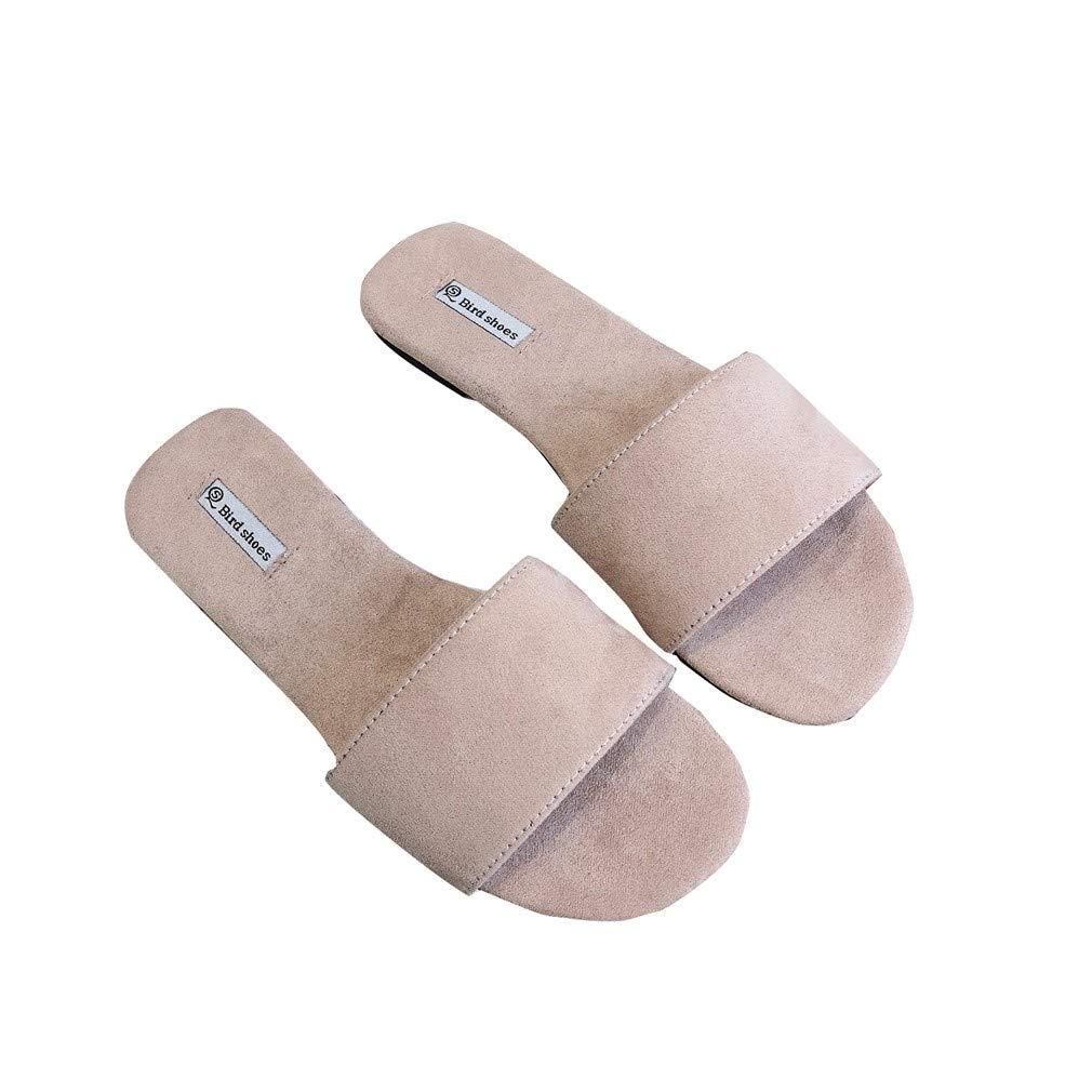 YUCH Pantoufles YUCH Femme Surface Frosted Toe Flat Flat Toe Confortable Toe Couleurs Pink 4056bd7 - avtodorozhniks.space