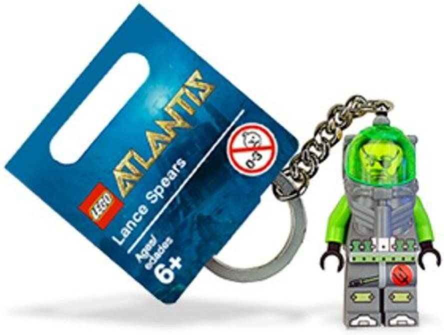 LEGO Atlantis Diver Lance Spears Key Chain