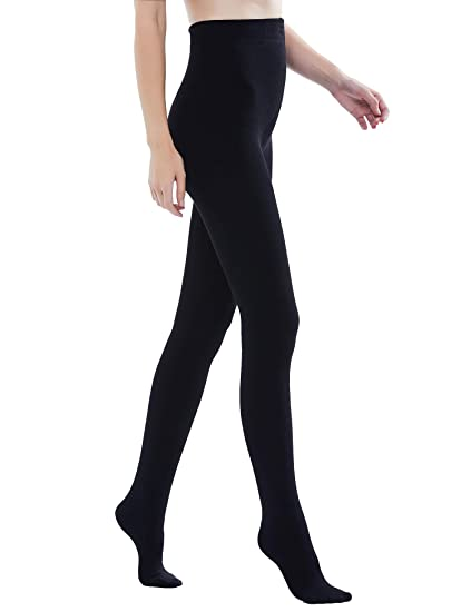 9ca7b4ee6d68fb Sheeper Womens High Waist Push Up Tights Brushed Cotton Compression Opaque  Leggings Pants Female Winter Knit Slim Fit Warm Seamless Gym Fitness  Pantyhose ...