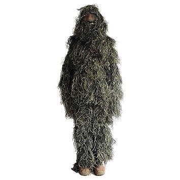 HRS Traje Ghillie Camuflaje ropa para selva caza, tiro, Wildlife fotografía o el avistamiento de aves, hombre, Army Green: Amazon.es: Deportes y aire libre