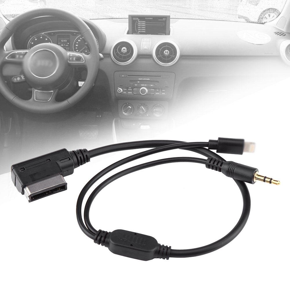 AMI MDI MMI 3.5mm Car Auxiliary Adapter AUX Cable For iPod iPhone 5 6 For Audi A3 A8 Q5 A6L Q7 S5 A5 A4L Music Interface Cable