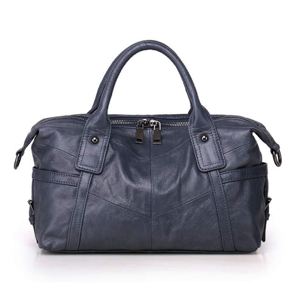 bluee Women Genuine Leather Handbag Female Real Cowhide Bag Crossbody Shoulder Bags Large Capacity Ladies Tote TopHandle Satchel