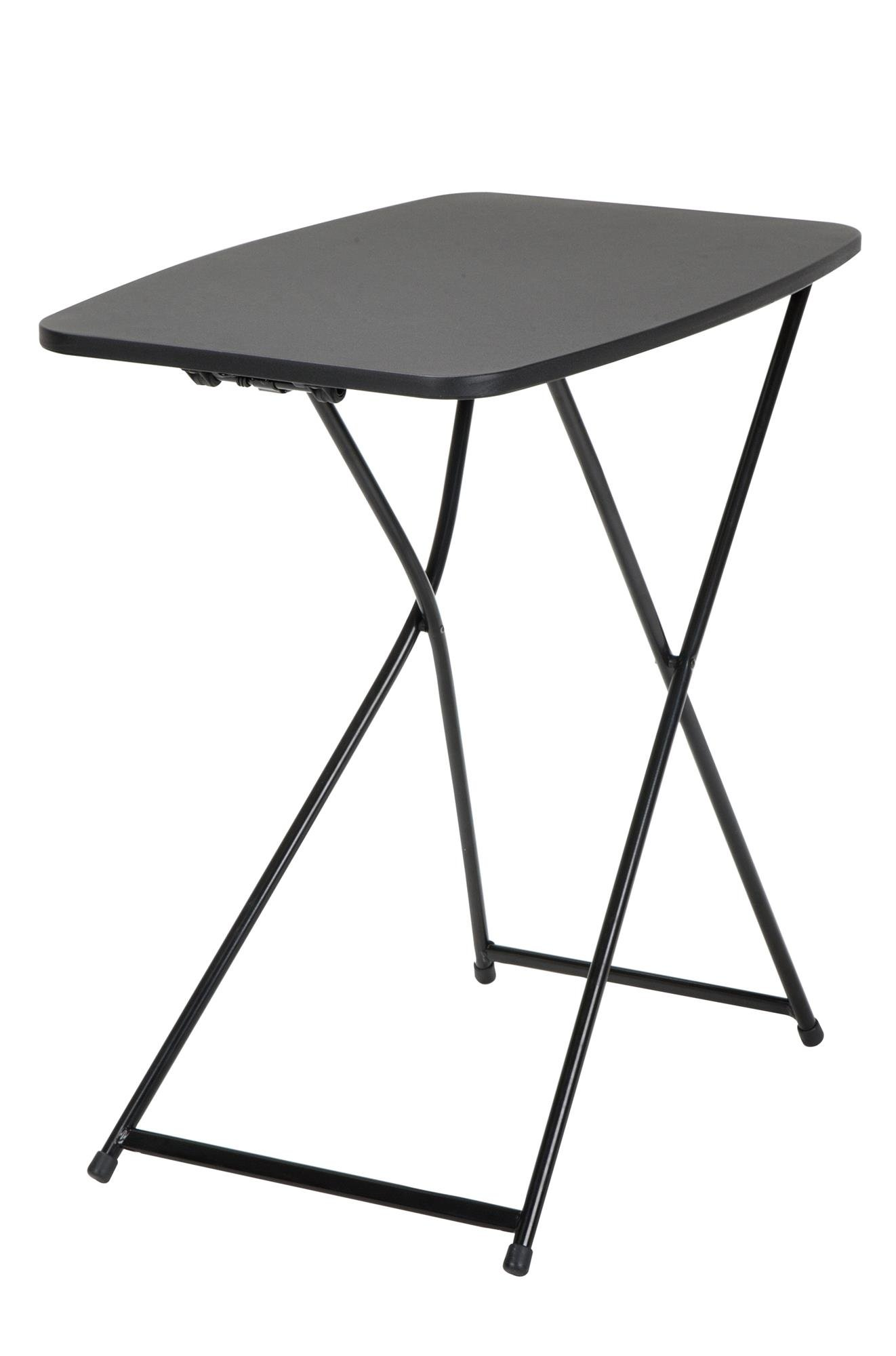 COSCO 18'' x 26'' Indoor Outdoor Adjustable Height Personal Folding Tailgate Table, Black, 2 pack by Cosco Outdoor Living