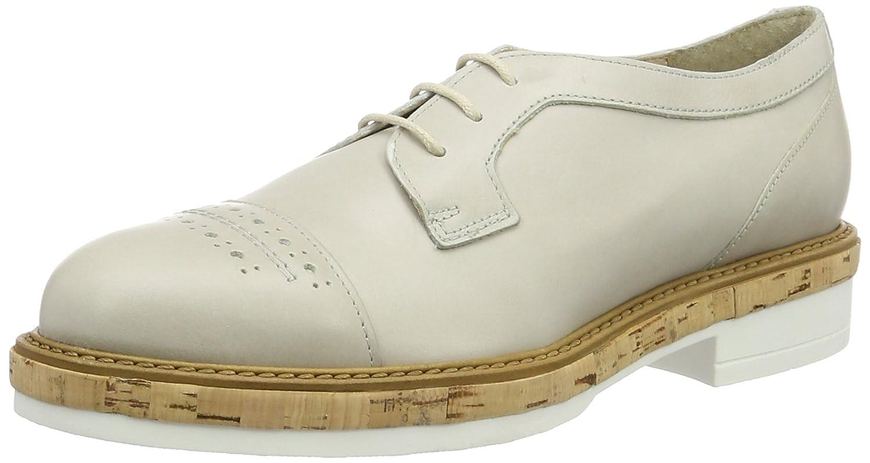 Manas Santorini, Zapatos de Cordones Derby Mujer 41 EU|Marfil (Ghiaccio)