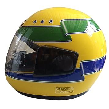 Casco Senna Ayrton de colección, réplica del original Bell, homologación DOT, talla M