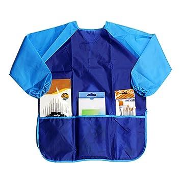 display08 niños niños de dibujo impermeable delantal bata de manga larga arte ropa: Amazon.es: Hogar