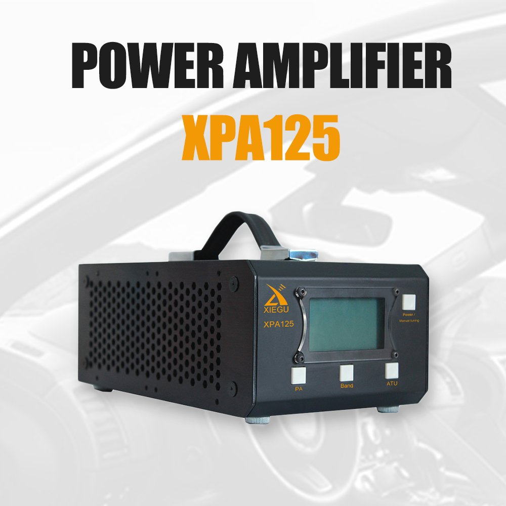 Xiegu XPA125 HF Radio Power Amplifier 125W QRP ALC LC Automatic Antenna Tuner Function 1.8-30M (Black)
