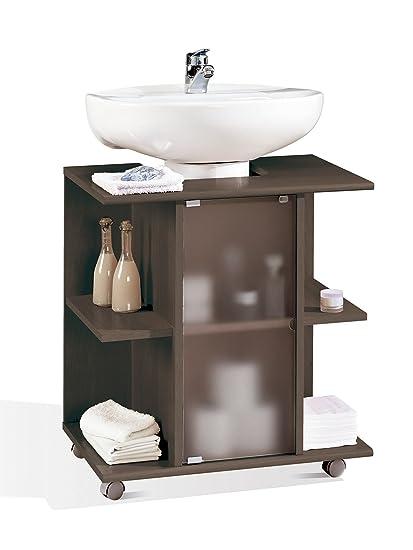 Mueble, modulo bajo para lavabo de baño, varios estantes y puerta de ...