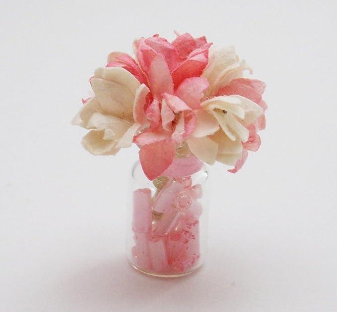 Miniature Rectangular Decorative Tissue Box #5 Peach Floral DOLLHOUSE 1:12