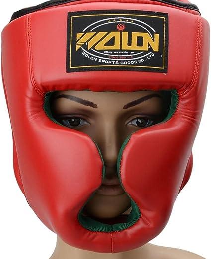 Headgear Head Guard Boxing Training Kick Sparring Face Helmet Protect Gear